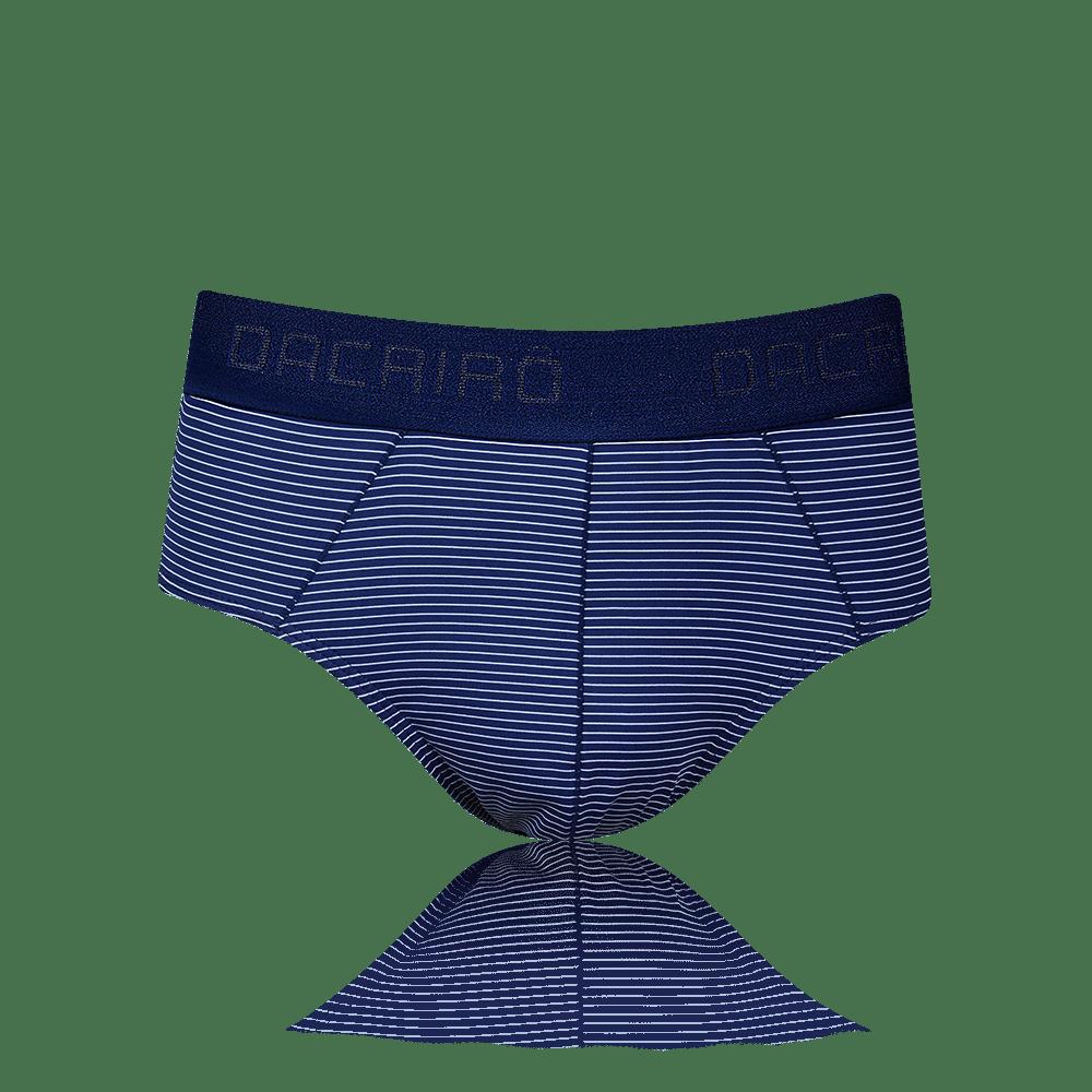 Cueca Slip Microfibra Risca de Giz Dacrirô