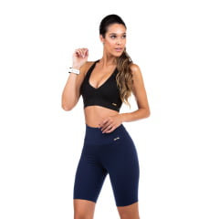 Bermuda Fitness Feminina Azul Marinho Dacrirô