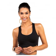 Top Fitness Preto Dacrirô